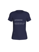 Load image into Gallery viewer, Fitted Tee with Definition of Cartographer