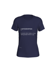 Fitted Tee with Definition of Cartographer