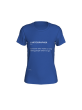 Load image into Gallery viewer, Fitted T-shirt with Definition of Cartographer