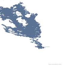 Load image into Gallery viewer, detail of labels - Muskoka's Big 3 Lakes in dark blue