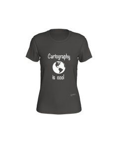 Fitted T-shirt - Cartography is Cool