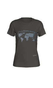Fitted T-shirt - It's a Blues World