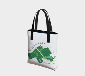 Tote Bag with Art Map of Waterloo Park, Waterloo