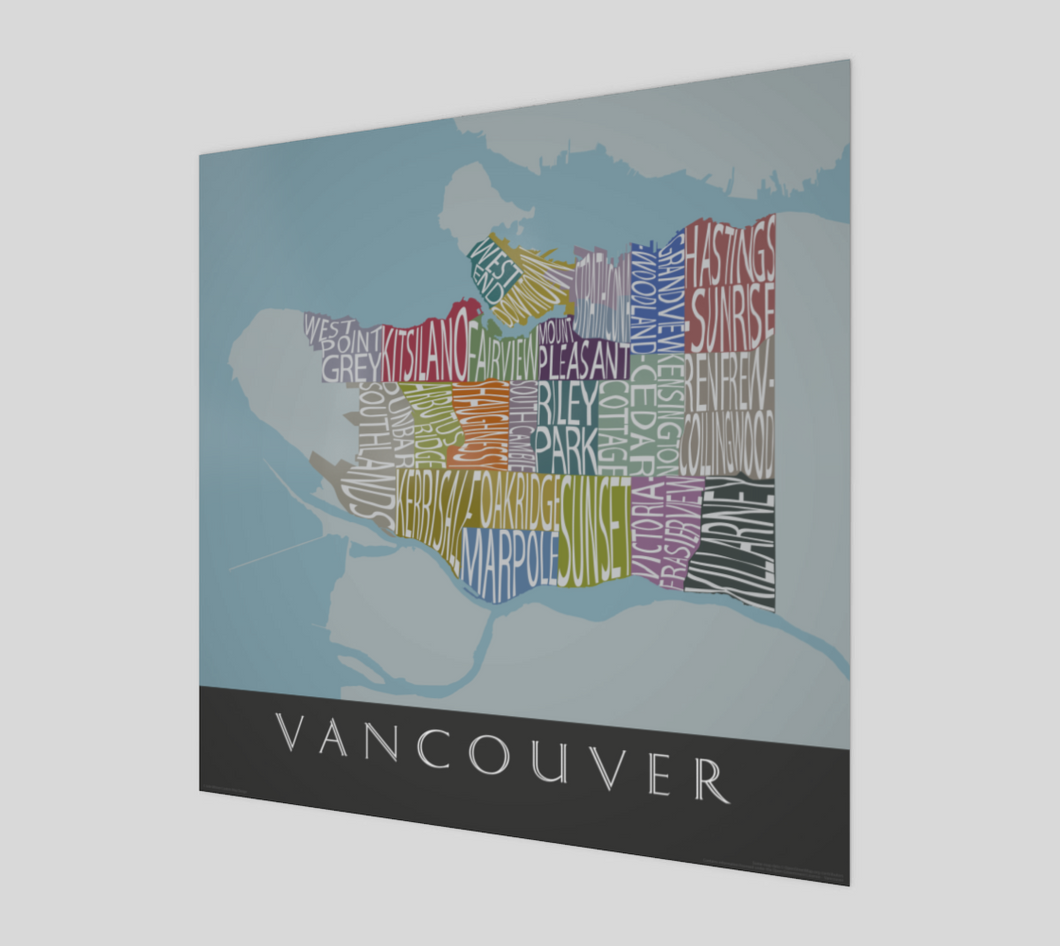 Art Map of Vancouver