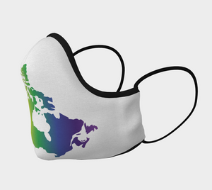 Face Mask - Rainbow Canada Map