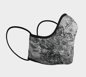 Face Mask with Contours of Waterloo Region