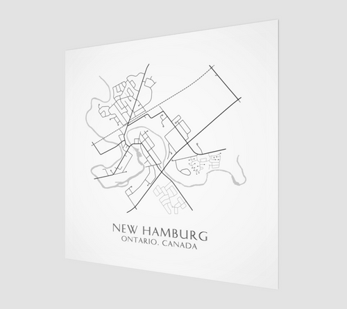 Poster Print of New Hamburg Streets