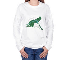 Load image into Gallery viewer, Long Sleeve T-Shirt with Map of Victoria Park