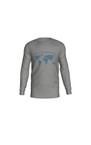 It's a Blues World - Long Sleeve T-Shirt