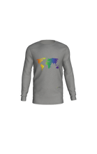 Load image into Gallery viewer, Long Sleeve T-Shirt with Rainbow World Map