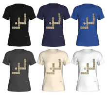 Load image into Gallery viewer, Fitted T-shirts - Map Crosswords