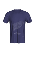 Load image into Gallery viewer, white streets of Toronto, Ontario, on navy classic unisex tshirt
