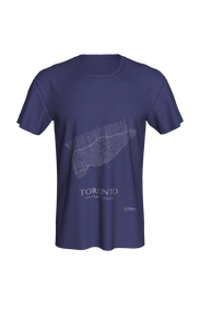 white streets of Toronto, Ontario, on navy classic unisex tshirt