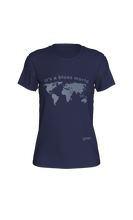 Load image into Gallery viewer, Fitted T-shirt - It's a Blues World