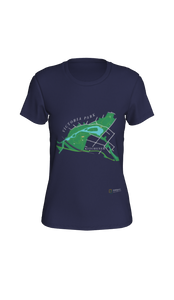 Fitted T-shirt with Map of Victoria Park in Kitchener