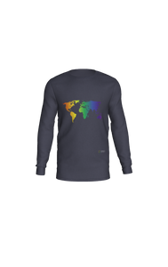 Long Sleeve T-Shirt with Rainbow World Map