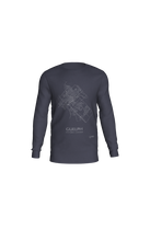 Load image into Gallery viewer, white streets of Guelph, Ontario, on navy long sleeve tshirt