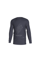 Load image into Gallery viewer, white streets of Brampton, Ontario, on navy long sleeve tshirt