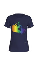 Load image into Gallery viewer, Fitted T-shirt - Rainbow Canada Map