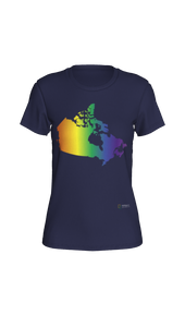 Fitted T-shirt - Rainbow Canada Map