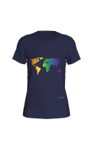 Load image into Gallery viewer, Fitted T-shirt - Rainbow World Map