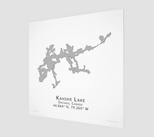 Load image into Gallery viewer, Art Map of Kahshe Lake
