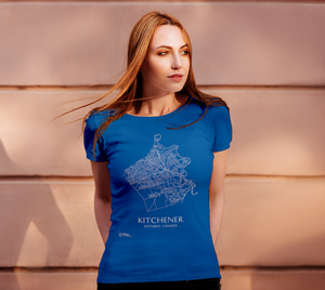 Women's Tee with Map of Kitchener