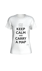 Fitted T-shirt - Keep Calm and Carry a Map