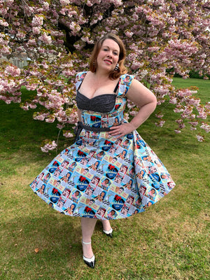 Gertie's Liz Dress - Full back modification Instructions.