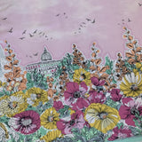 WEEKEND GETAWAY in blossom SINGLE border print - a Mad Seamstress