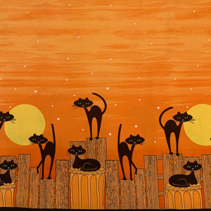 STRAY CAT STRUT in orange Double Border print - a Mad Seamstress