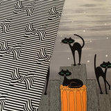 STRAY CAT STRUT in black Double Border print - a Mad Seamstress