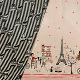 Paris Valentine BOWS & STRIPES in black coordinating fabric - a Mad Seamstress