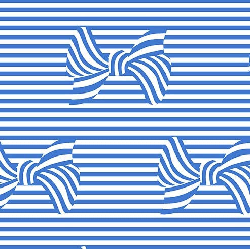At the Seashore BOWS & STRIPES in Sailor coordinating fabric - a Mad Seamstress