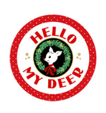 HELLO MY DEER! Double Border print - a Mad Seamstress