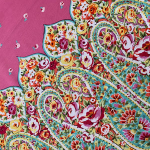 Kashmir Gardens Pink Rose Paisley - a Mad Seamstress