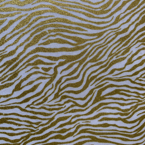 Glitter Critters MINI ZEBRA STRIPE in Gold - a Mad Seamstress