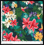 Hummingbirds and Hibiscus Jungle - a Mad Seamstress