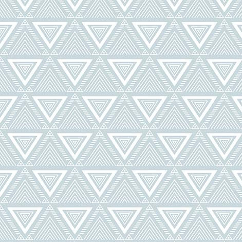 Living in the Wild TRIANGLE GEO in ice blue coordinating fabric - a Mad Seamstress