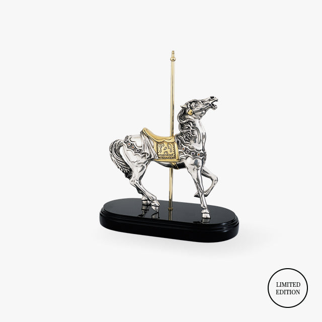 D'Argenta-Silver-Gold-Animals-Carrousel-Horse