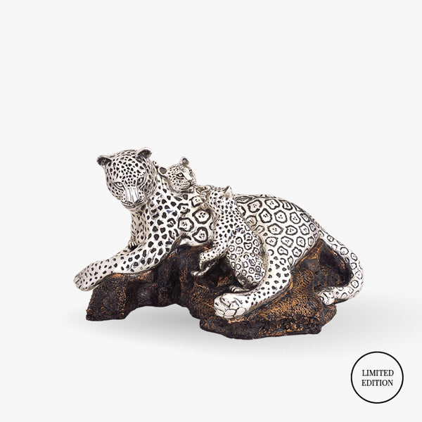 D'Argenta-Silver-Cooper-Animals-Leopards-Family