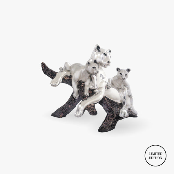 D'Argenta-Silver-Animals-Pumas-Family