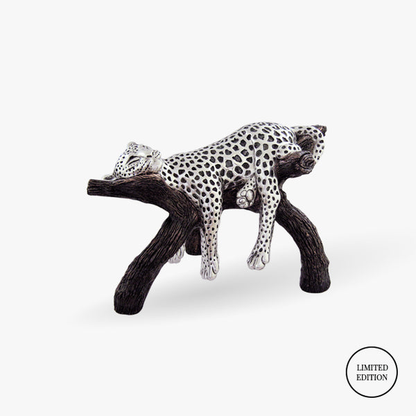 D'Argenta-Silver-Silver-Animals-Sleeping-Leopard