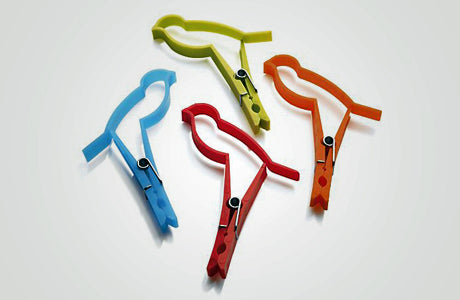 BIRD CLIPS Multi Colors (8)