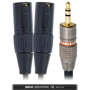 Male 1/8in to Dual Male XLR-The Tech Closet by DAVIS-The Tech Closet by DAVIS