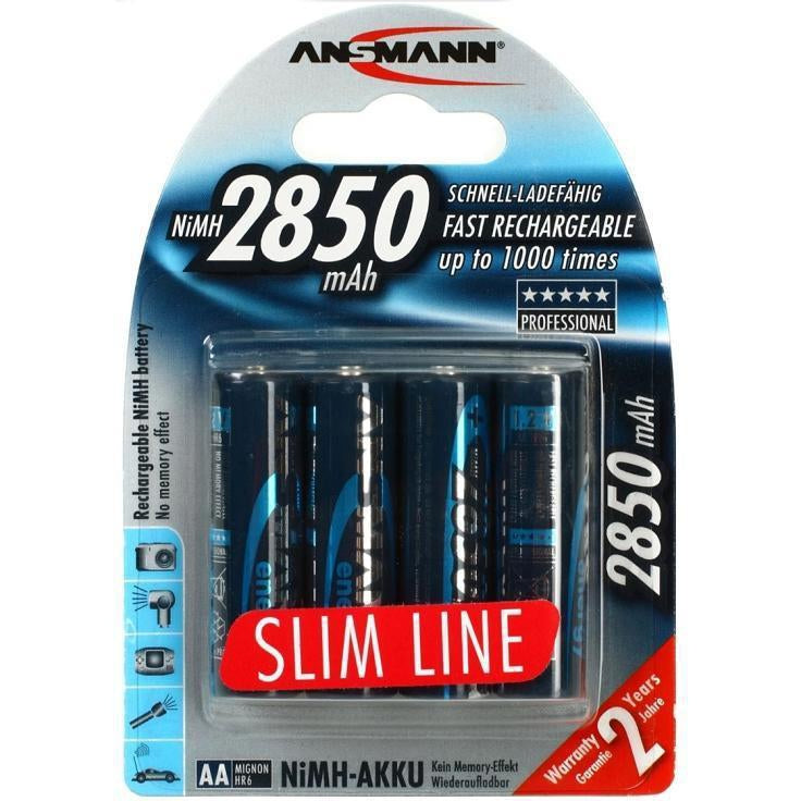 Ansmann Slimline Rechargeable AA-The Tech Closet by DAVIS-The Tech Closet by DAVIS