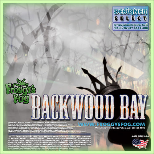 Backwood Bay - Designer Select Long Lasting Fog Machine Fluid - 1 Gallon-FROGGYS FOG-The Tech Closet by DAVIS