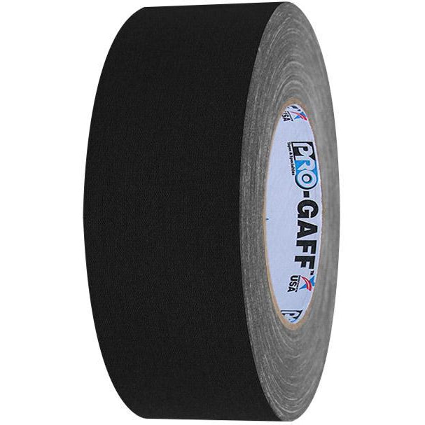 PRO Gaff Gaffers Tape, Black 2 inch x 55 yds-ProTapes-The Tech Closet by DAVIS
