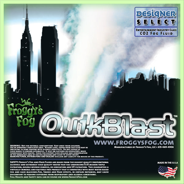 QuikBlast - Designer Select CO2 Blast Effect Fog Machine Fluid - 1 Gallon-FROGGYS FOG-The Tech Closet by DAVIS