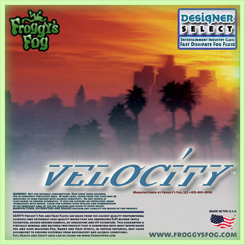 Velocity - Designer Select Fast Dissipating Fog Machine Fluid - 1 Gallon-FROGGYS FOG-The Tech Closet by DAVIS
